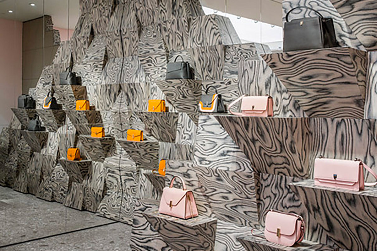 Miami and Milan, leather and marble: a dual combination for the store by Aranda Lasch