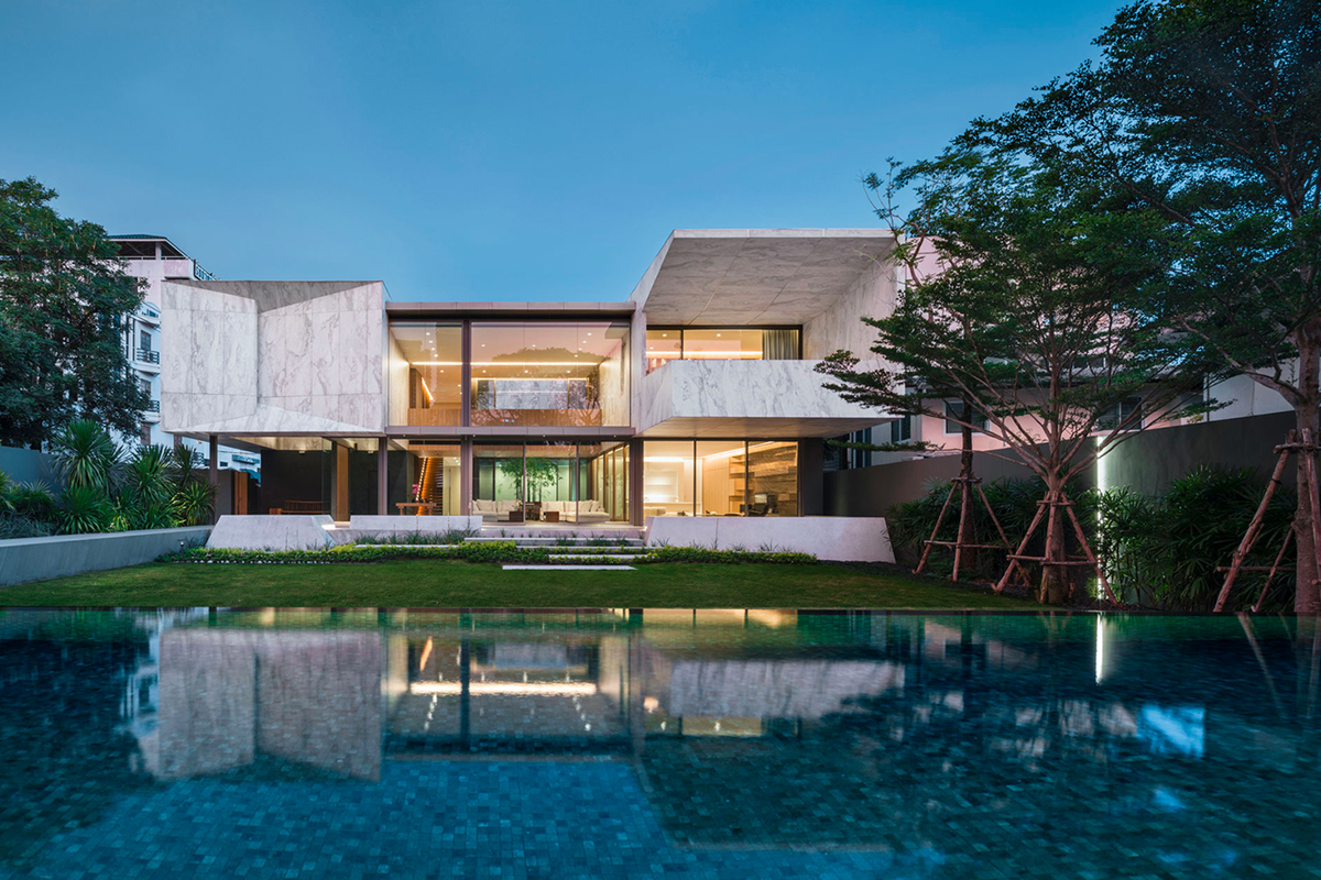Modern Architecture: Marble House by Openbox Architects, Bangkok, Thailand